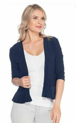 LT Navy Ruffle Crop Jacket