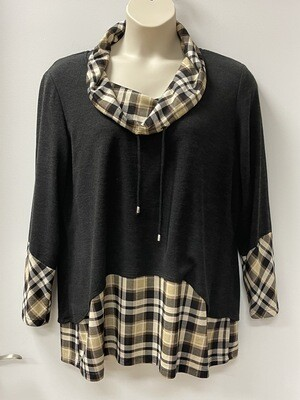Modes Blk/w Plaid Cowl