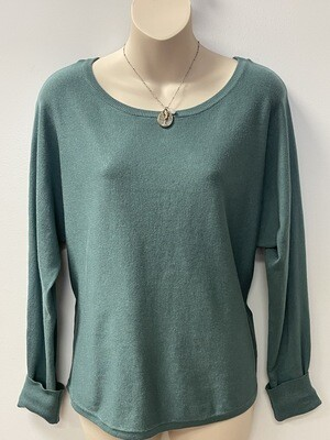 SC Boat Neck Button Back Sweater