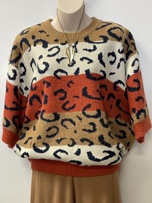 Sis Oversized Leopard Sweater