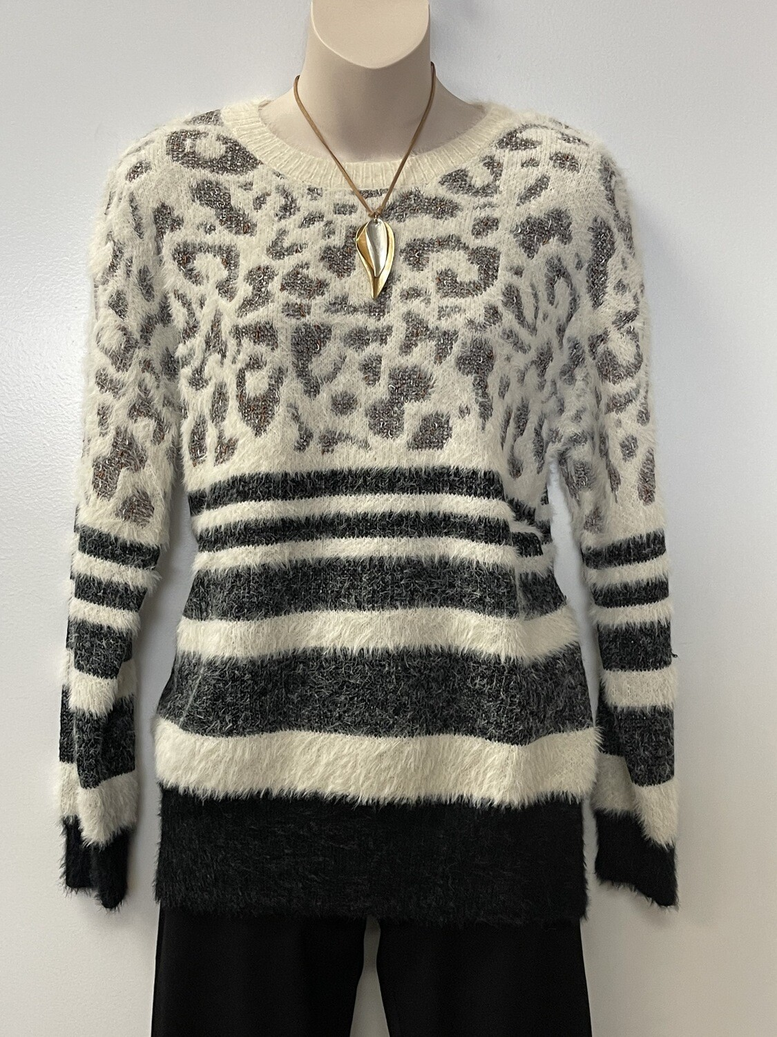 Sis L/S Spotted Stripe Pull Over