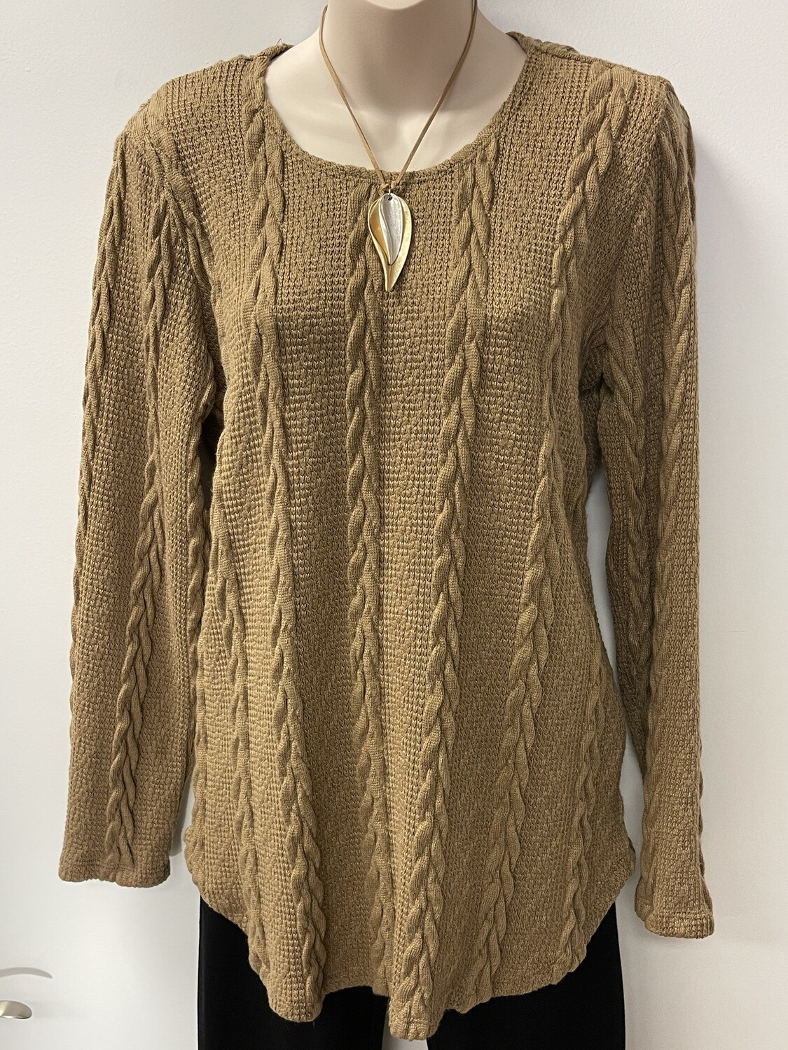 SW Soft Cable Knit Tunic