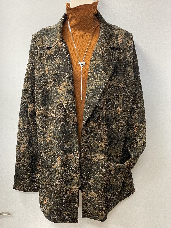 Yest Royal Grn Multi Blazer