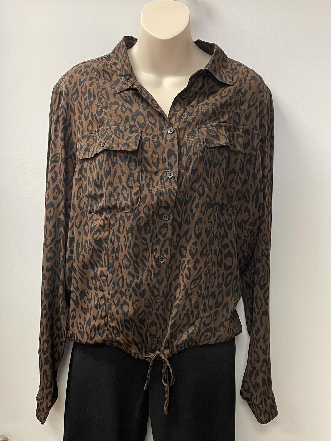 Yest Leopard Button Up Top
