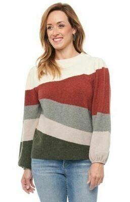 Dem L/S Blouson Slv Wavy Sweater