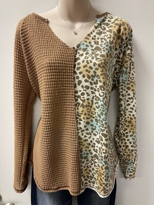 BiBi Leopard Prt Block Top