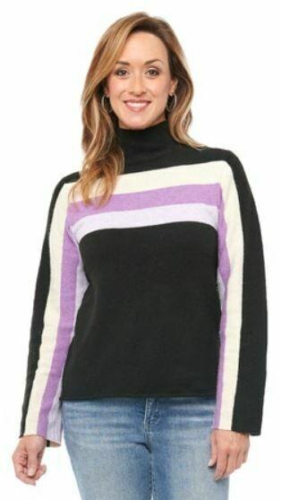 Dem L/S Turtleneck Stripe Sweater