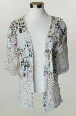 KH Ivory Crochet Cardi