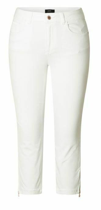 Yest Ireen Crop Jeans w/Zip Dtl