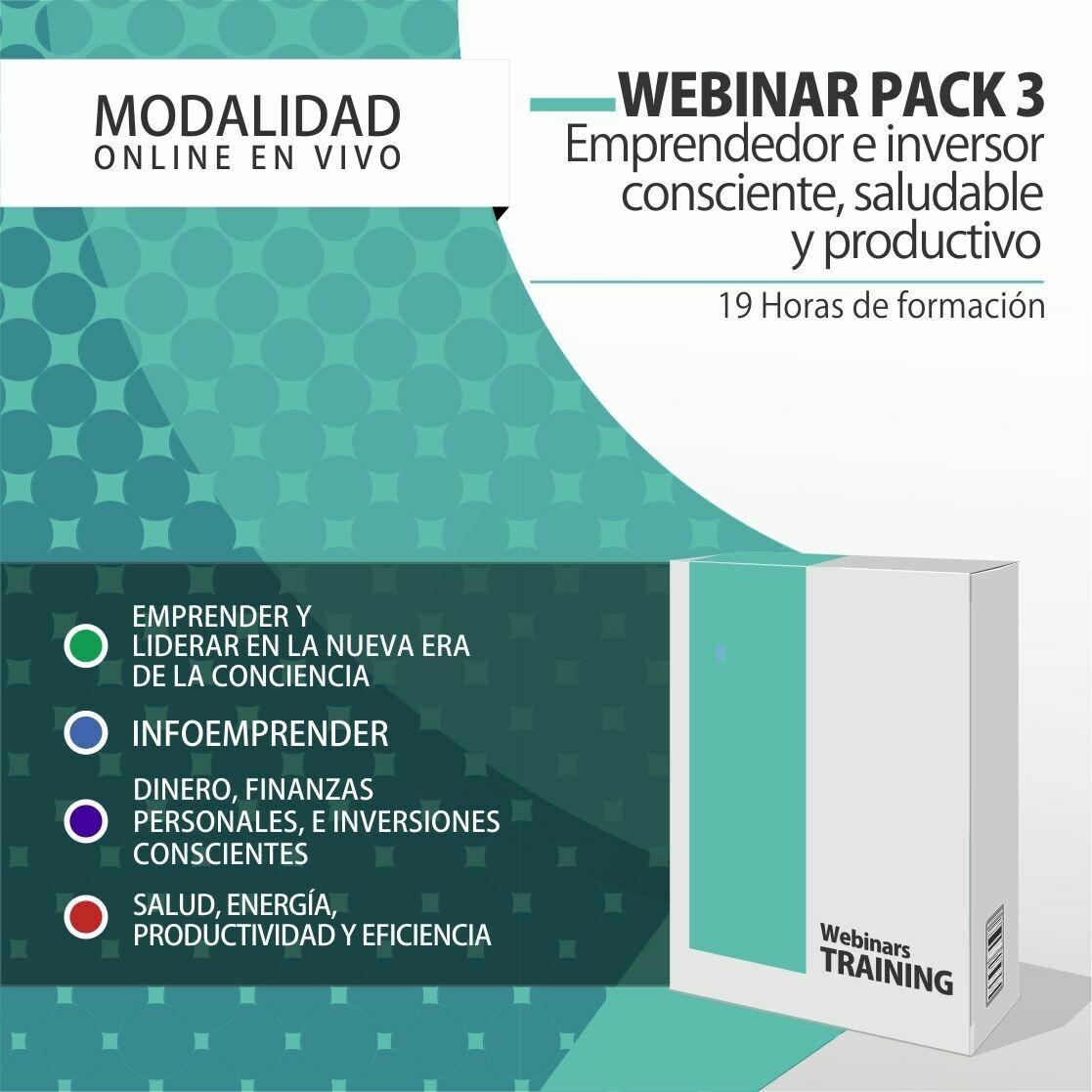 Pack Cursos Online 3:  PACK EMPRENDEDOR E INVERSOR CONSCIENTE, SALUDABLE Y PRODUCTIVO + PLANIFICACIÓN CONSCIENTE