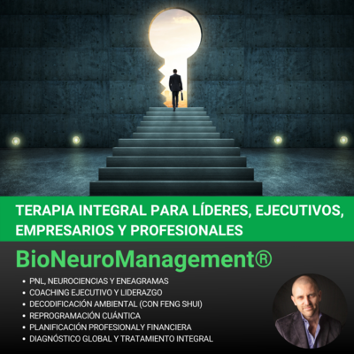 S3 - BioNeuroManagement: Terapia Integral para Lideres, Ejecutivos, Empresarios y Profesionales (Pack de 4 Sesiones)