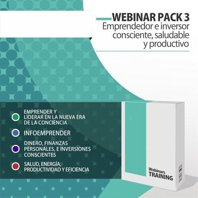 Video Cursos 3:  PACK EMPRENDEDOR E INVERSOR CONSCIENTE, SALUDABLE Y PRODUCTIVO + PLANIFICACIÓN CONSCIENTE