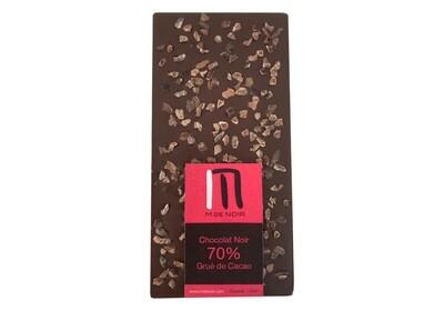 Dark chocolate cocoa nibs bar