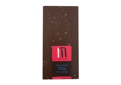 Dark chocolate sea salt bar