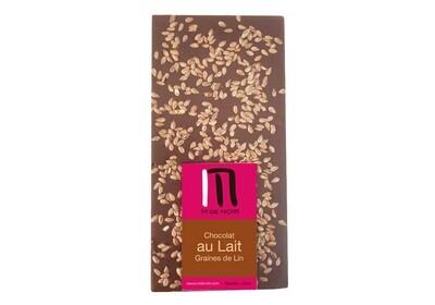 Milk chocolate linseed bar