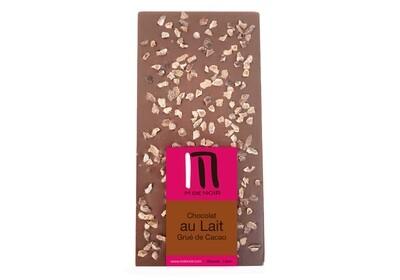 Milk chocolate cocoa nibs bar