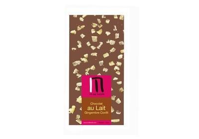 Milk chocolate candied ginger bar