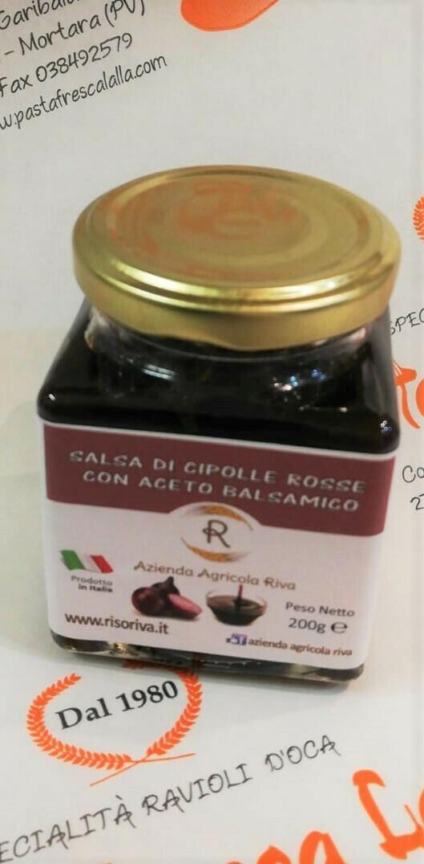 SALSA DI CIPOLLE ROSSE con Aceto Balsamico 200 gr.