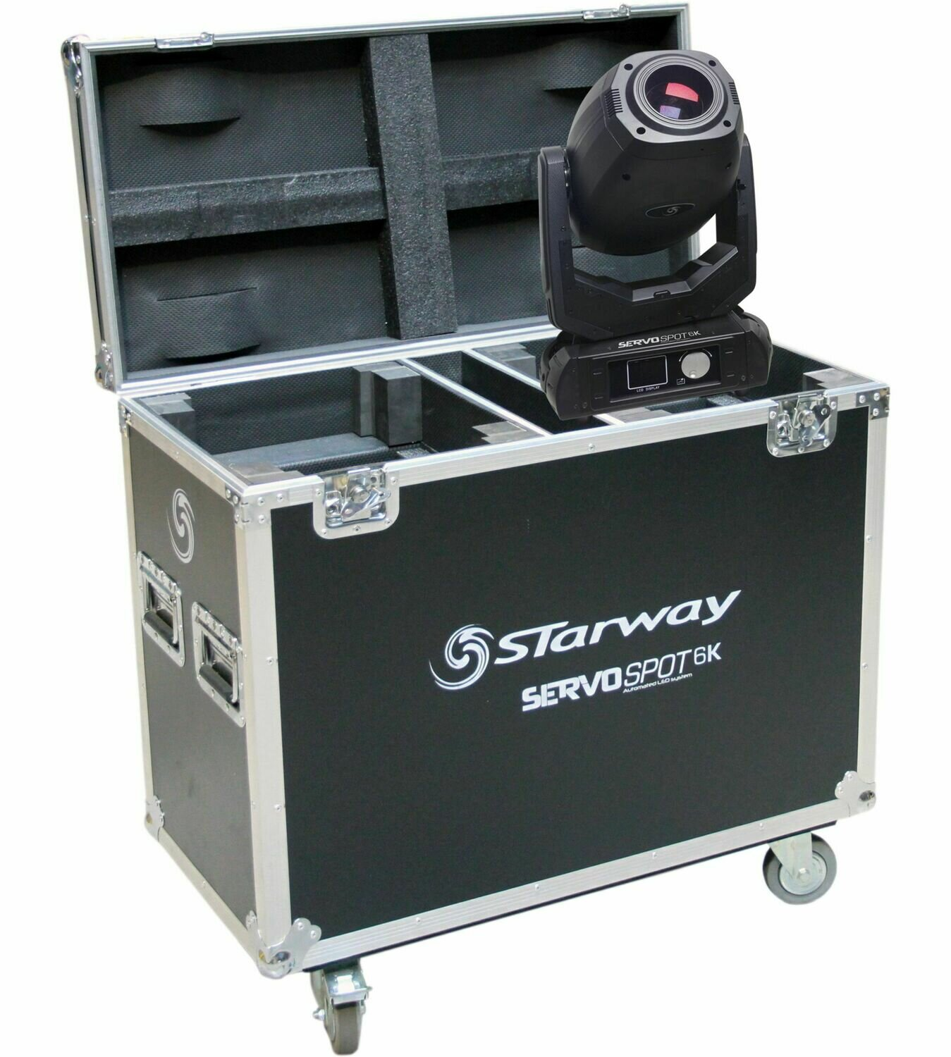 2 x Servo Spot 6K en Flight-Case