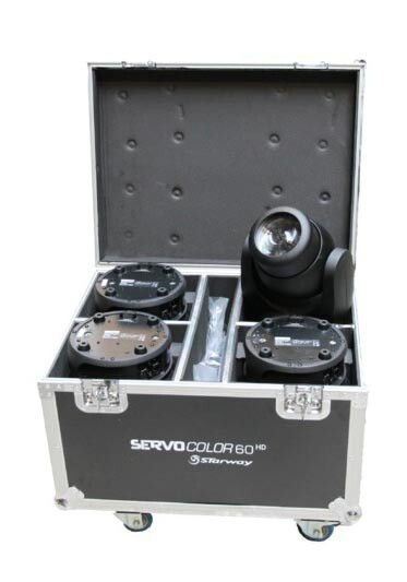 4 Servo Color 60 HD en flight-case