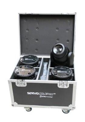 4 Servo Color 60 HD en flight-case