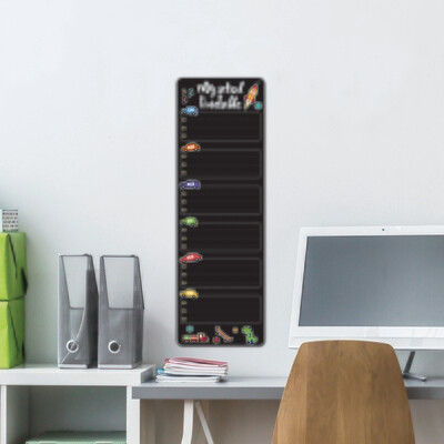 Blackboard Week Boy Wall Sticker