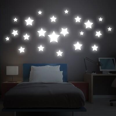 Crearreda 18110 - Big Stars Glow in the Dark Wall Sticker
