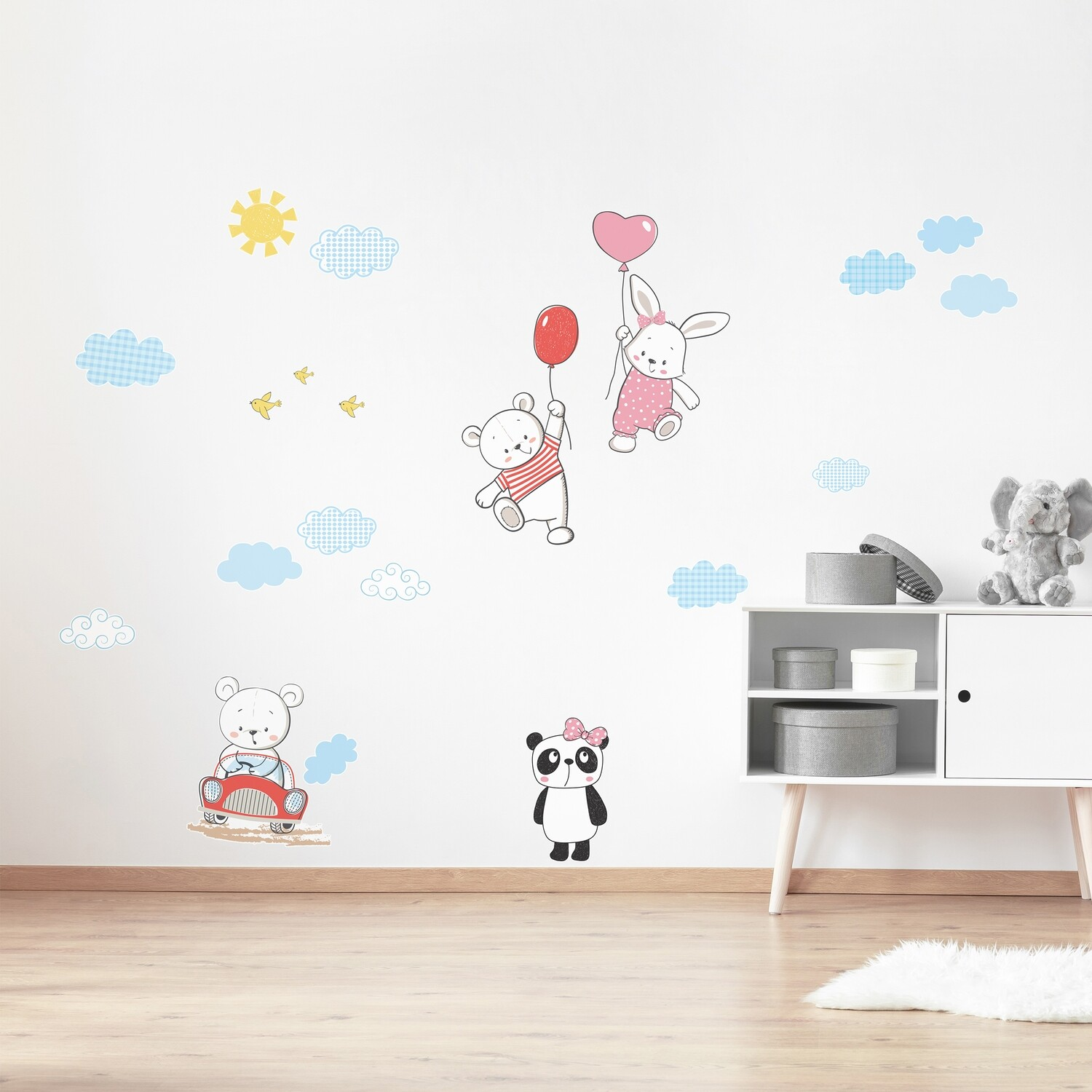 Crearreda 18307 - Funny Bears Adhesive Wall Sticker