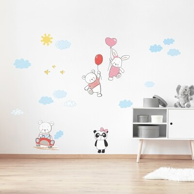 Funny Bears Adhesive Wall Sticker