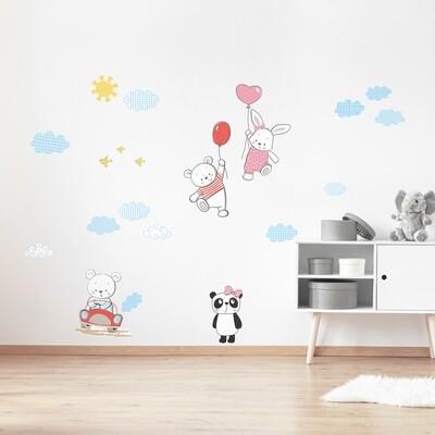 Crearreda 18307 - Funny Bears Adhesive Wall Sticker