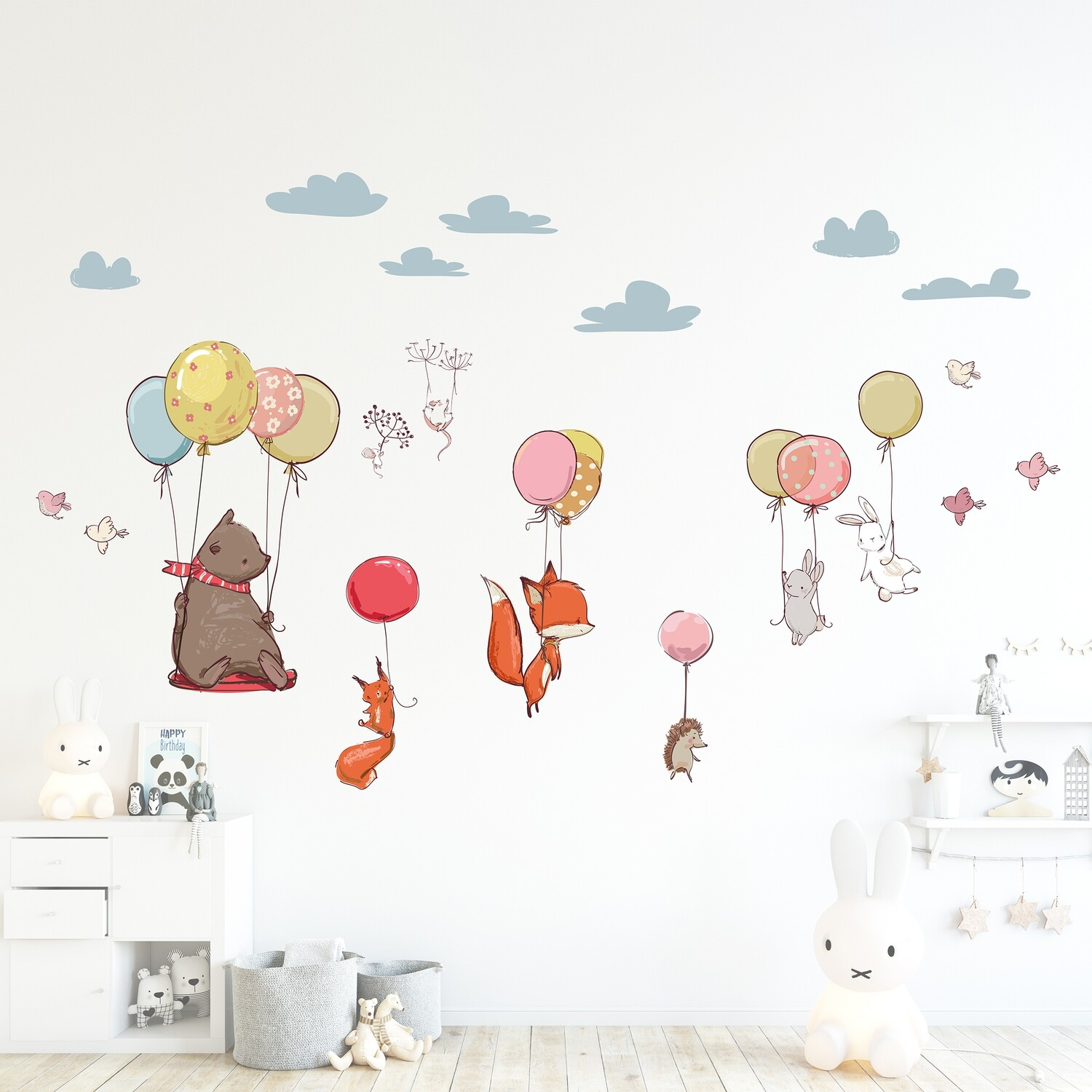 Crearreda 18308 - Flying Animals Self Adhesive Wall Sticker