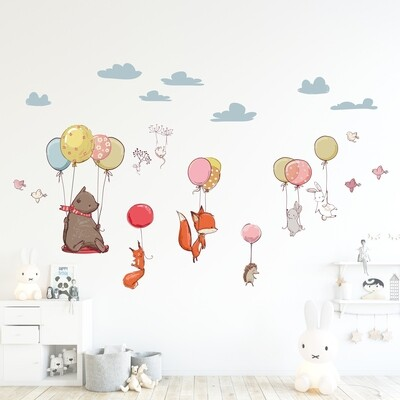 Flying Animals Self Adhesive Wall Sticker