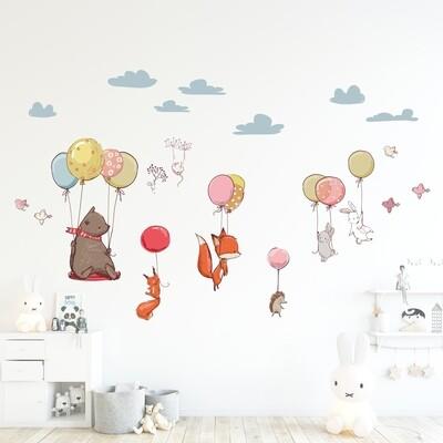 Crearreda 18308 - Flying Animals Self Adhesive Wall Sticker