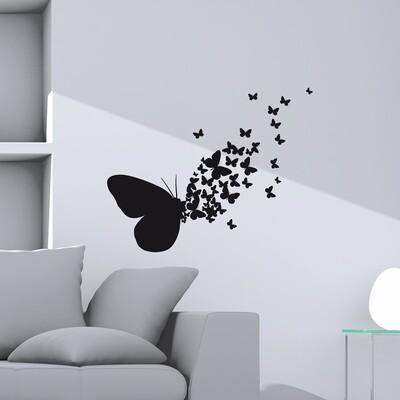 Crearreda 54110 - Butterflies Silhouettes Self Adhesive Wall Sticker