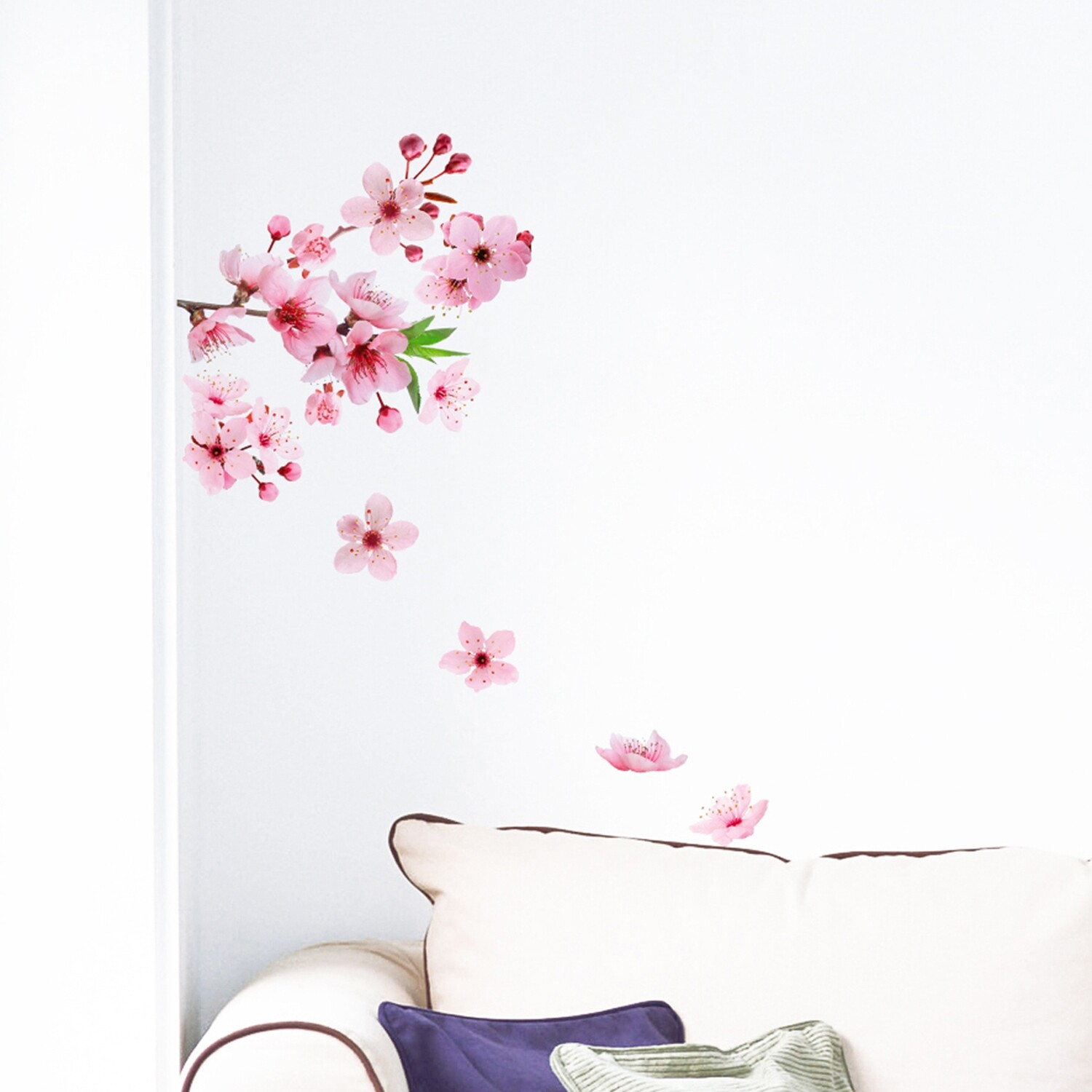 Crearreda 54327 - Cherry Blossom Self Adhesive Wall Sticker
