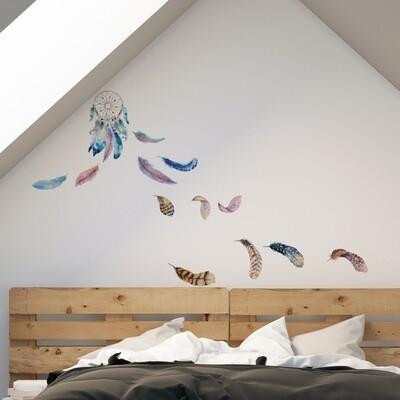 Crearreda 54111 - Watercolour Dreamcatcher Self Adhesive Wall Sticker