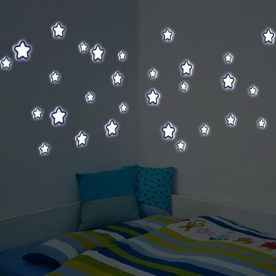 Crearreda 54506 - Glow in the Dark Stars Foam Sticker