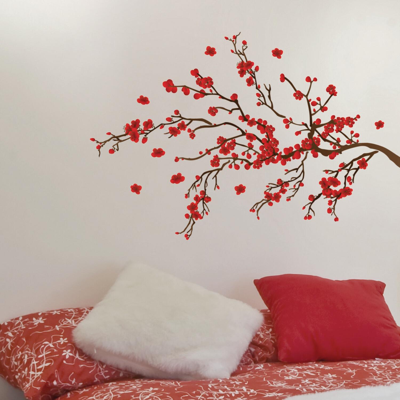 Crearreda 58105 - Red Ramage Self Adhesive Wall Sticker