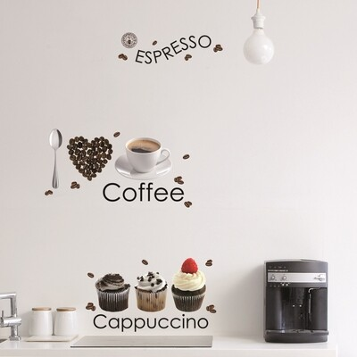 Espresso Self Adhesive Wall Sticker