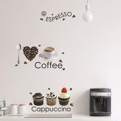 Crearreda 58106 - Espresso Self Adhesive Wall Sticker