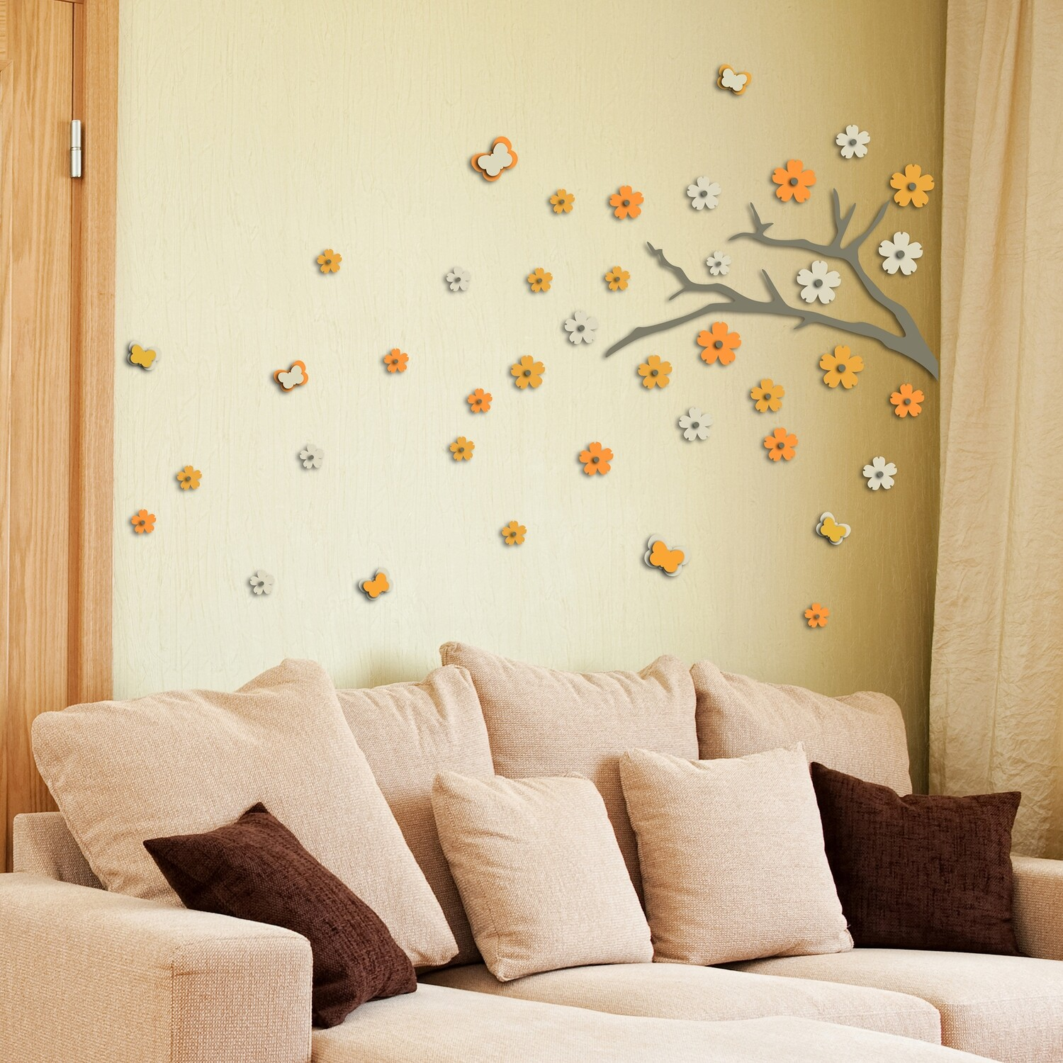 Japanese Branch Self Adhesive Removable Foam Sticker