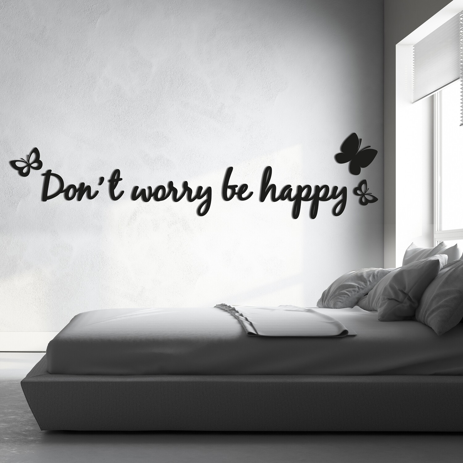 Don't Worry Self Adhesive Removable Foam Sticker