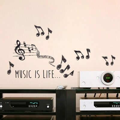 Music Self Adhesive Wall Sticker