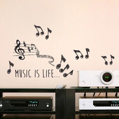Crearreda 59160 - Music Self Adhesive Wall Sticker