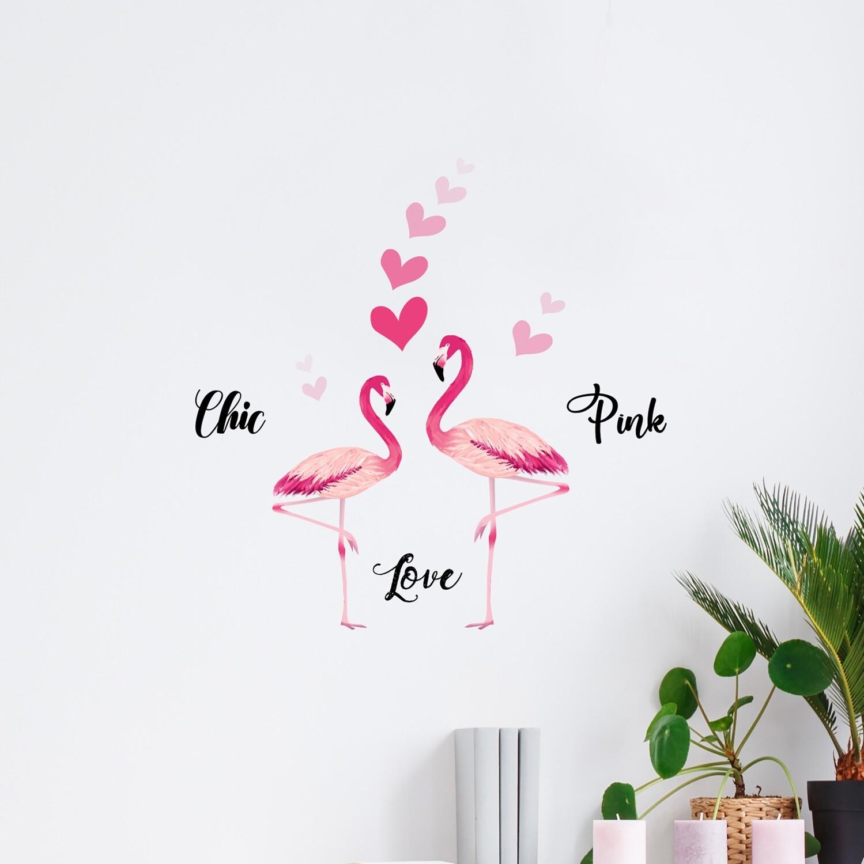 Flamingos Self Adhesive Wall Sticker