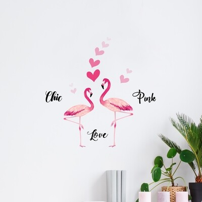 Flamingos Self Adhesive Wall Sticker