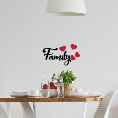 Family Self Adhesive Removable Foam Sticker