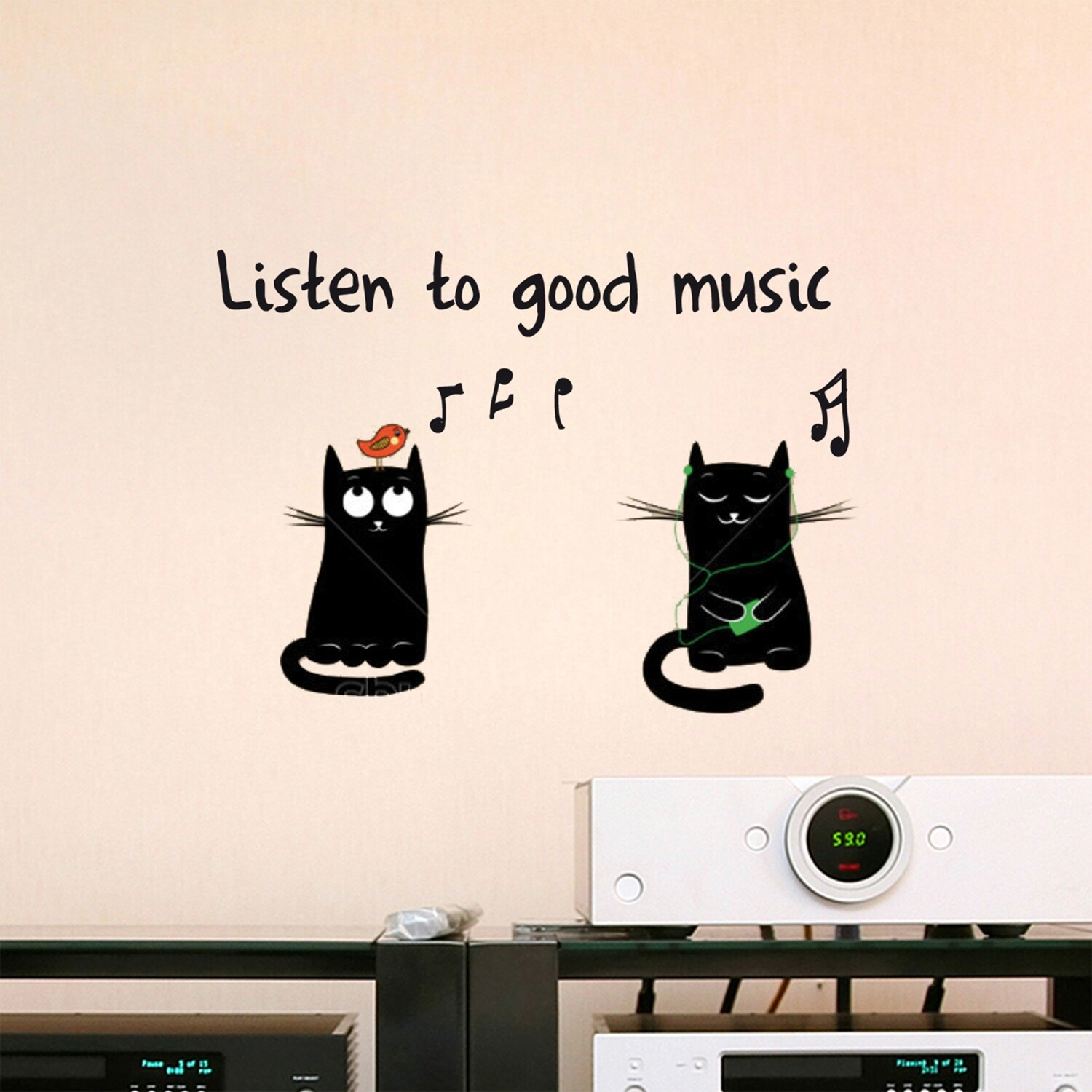 Good Music Self Adhesive Wall Quote