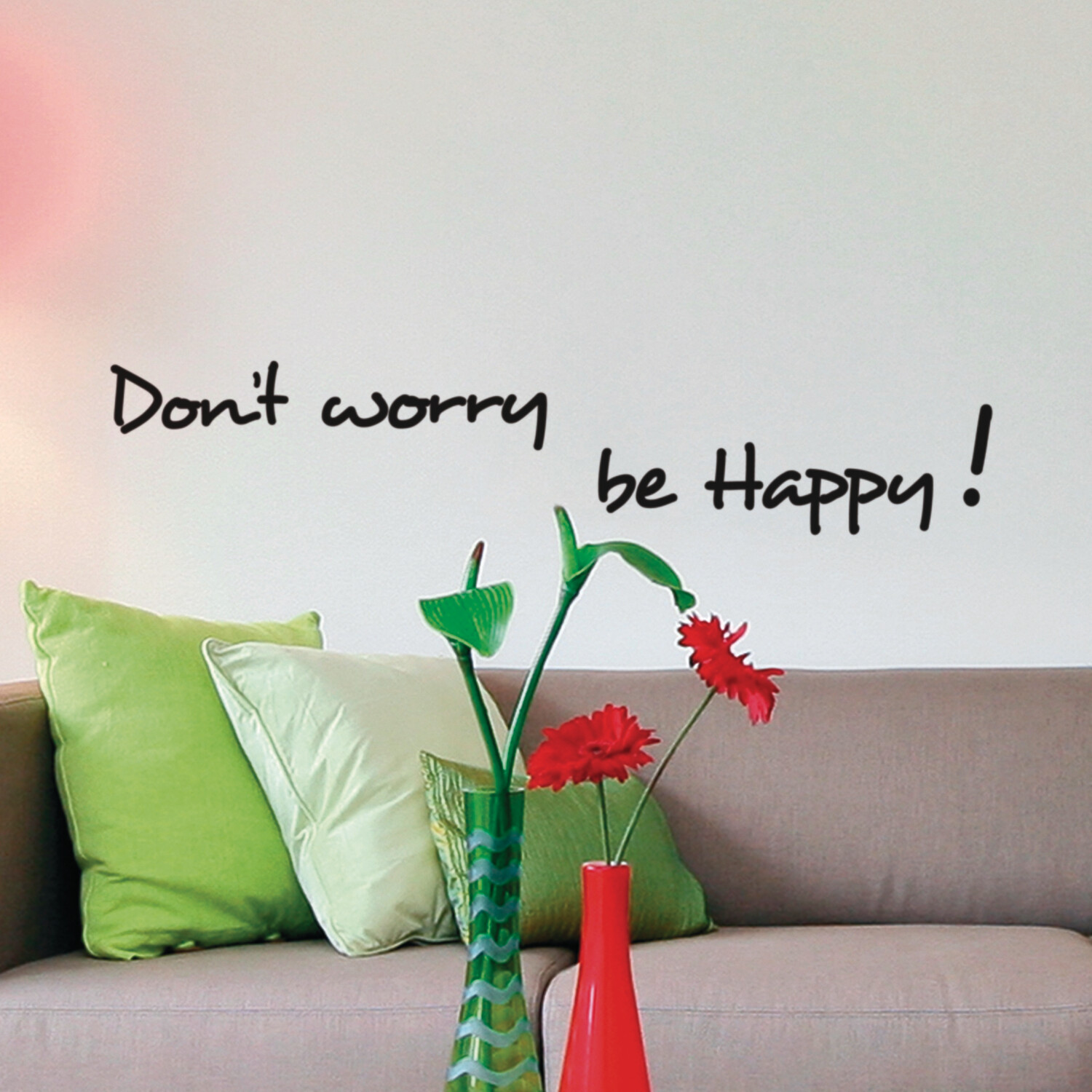 Happiness Self Adhesive Wall Quote