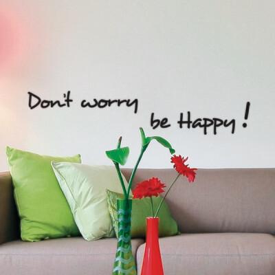 Crearreda 62012 - Happiness Self Adhesive Wall Quote